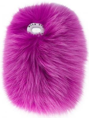 Чехол Robidoux для iPhone 7+ с лисьим мехом Wild And Woolly. Цвет: розовый