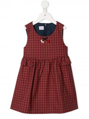 Платье в клетку Familiar. Цвет: красный