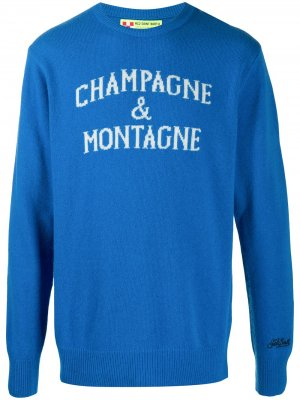 Джемпер Champagne & Montagne Mc2 Saint Barth. Цвет: синий