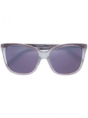 Солнцезащитные очки в квадратной оправе Monique Lhuillier. Цвет: зелёный