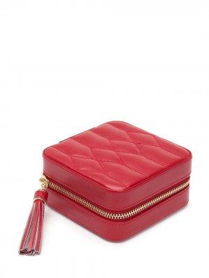 Стеганая шкатулка для украшений WOLF. Цвет: красный