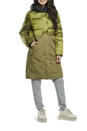Пальто D`IMMA. Цвет: салатовый