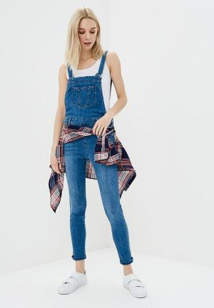 Комбинезон джинсовый Jennyfer. Цвет: синий
