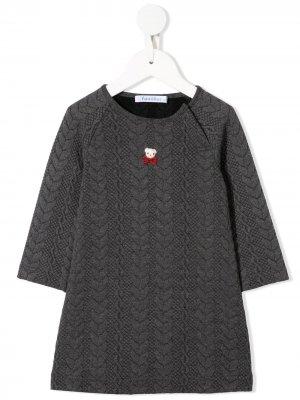 Платье из джерси Familiar. Цвет: серый