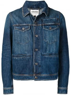 Джинсовая куртка с принтом водопада G-Star Raw Research. Цвет: синий