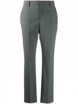 Строгие брюки в тонкую полоску MM6 Maison Margiela. Цвет: серый