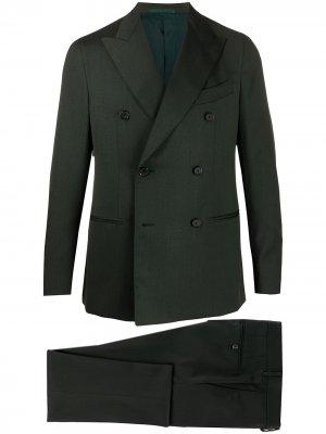 Костюм с двубортным пиджаком Caruso. Цвет: зеленый
