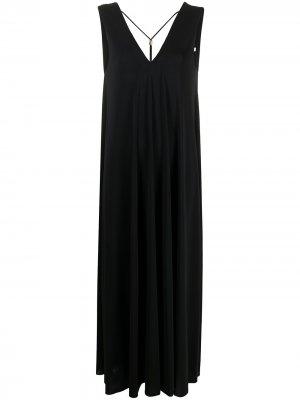 Пляжное платье Axelle с V-образным вырезом на спине Eres. Цвет: черный