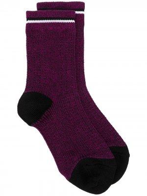 Трикотажные носки в мелкую точку Marni. Цвет: фиолетовый