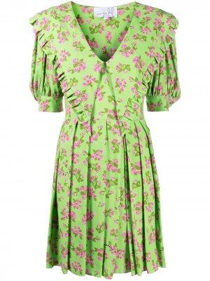 Платье мини Prairie Natasha Zinko. Цвет: зеленый