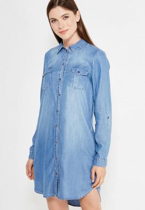 Платье джинсовое Vero Moda. Цвет: голубой