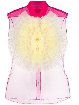 Тюлевая рубашка с оборками Viktor & Rolf. Цвет: розовый