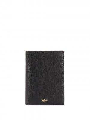 Обложка для паспорта Mulberry. Цвет: черный