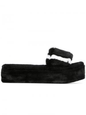 Kitzbuhel striped sandals Avec Modération. Цвет: чёрный