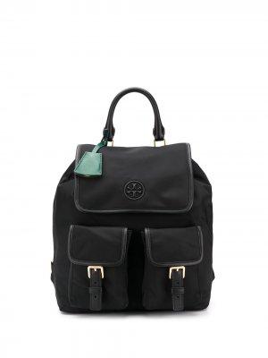 Рюкзак с карманами Tory Burch. Цвет: черный