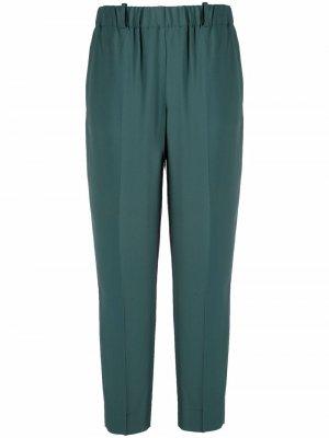 Укороченные зауженные брюки Incotex. Цвет: зеленый