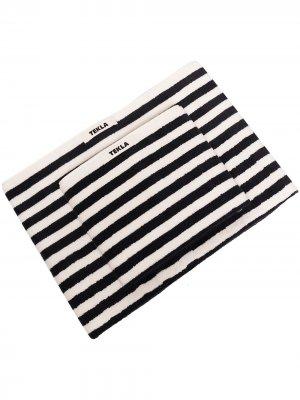 Набор полотенец в полоску TEKLA. Цвет: черный