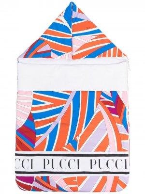 Конверт с логотипом Emilio Pucci Junior. Цвет: синий