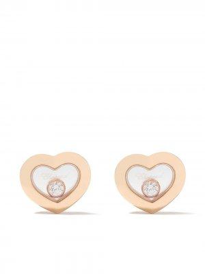 Серьги-гвоздики Happy Diamonds Icons из розового золота Chopard. Цвет: розовый