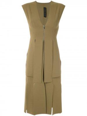 Платье с разрезами Gloria Coelho. Цвет: зеленый