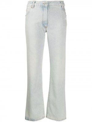 Укороченные джинсы Off-White. Цвет: синий