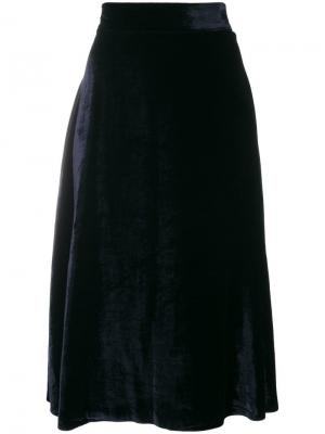 Full flared skirt Roberto Collina. Цвет: синий