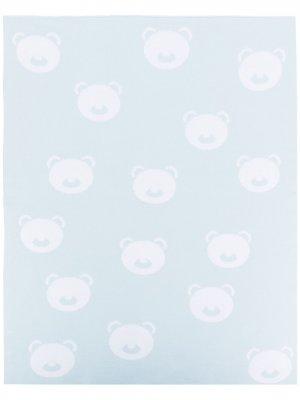Одеяло с узором Little Bear. Цвет: синий