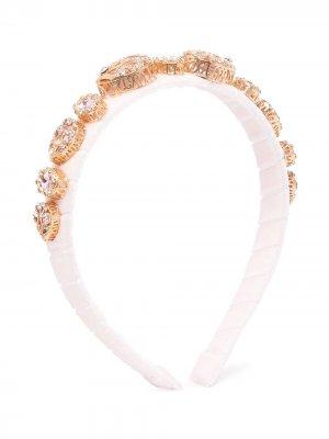 Ободок с кристаллами David Charles. Цвет: розовый
