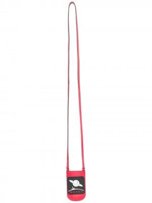Клатч с ремешком на шею Marni. Цвет: красный