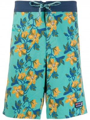 Плавки-шорты Wavefarer с цветочным принтом Patagonia. Цвет: синий
