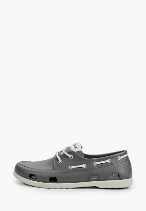 Топсайдеры Crocs. Цвет: серый