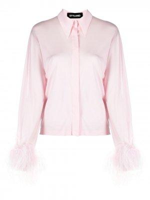 Рубашка с перьями Styland. Цвет: розовый