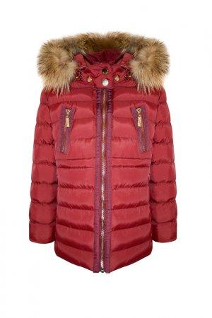 Пальто STEFANIA. Цвет: бордовый