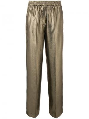 Kapoor loose trousers 8pm. Цвет: металлик