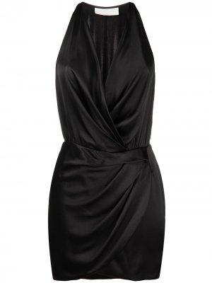 Платье мини с вырезом халтер Michelle Mason. Цвет: черный