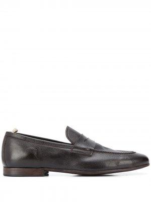 Лоферы Byron с миндалевидным носком Officine Creative. Цвет: коричневый