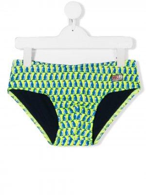 Плавки-шорты Billy Mc2 Saint Barth Kids. Цвет: зеленый