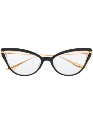 Очки Artcal в оправе кошачий глаз Dita Eyewear. Цвет: черный