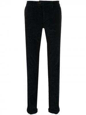 Вельветовые брюки прямого кроя Seventy. Цвет: синий