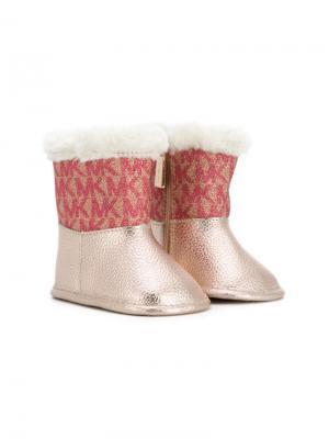 Сапоги Zia Michael Kors Kids. Цвет: розовый