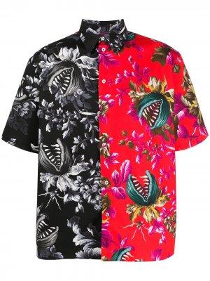 Рубашка с короткими рукавами MSGM. Цвет: черный