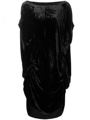 Платье миди со сборками Paula Knorr. Цвет: черный