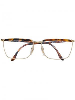 Квадратные очки Krizia Pre-Owned. Цвет: коричневый