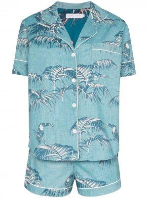 Пижама Bocas с принтом Desmond & Dempsey. Цвет: синий
