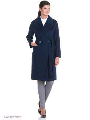 Пальто Anora. Цвет: индиго, синий