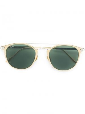 Солнцезащитные очки C Décor Cartier. Цвет: металлик