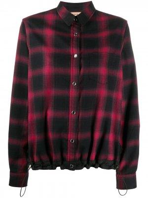 Клетчатая рубашка с кулиской Nº21. Цвет: красный