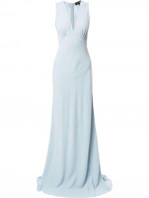 Платье-комбинация с V-образным вырезом Jenny Packham. Цвет: синий