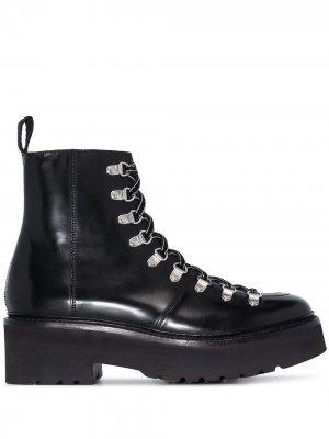 Ботинки Nanette 65 на платформе Grenson. Цвет: черный