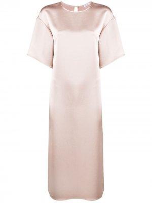 Платье-трапеция с короткими рукавами P.A.R.O.S.H.. Цвет: нейтральные цвета